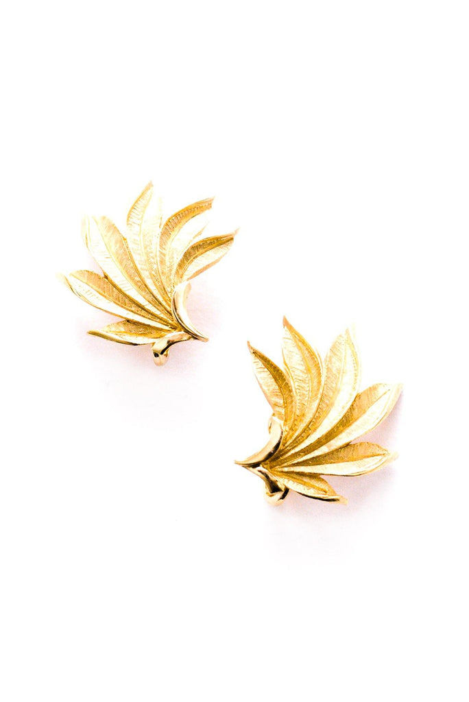 Fanned Statement Clip-On Earrings