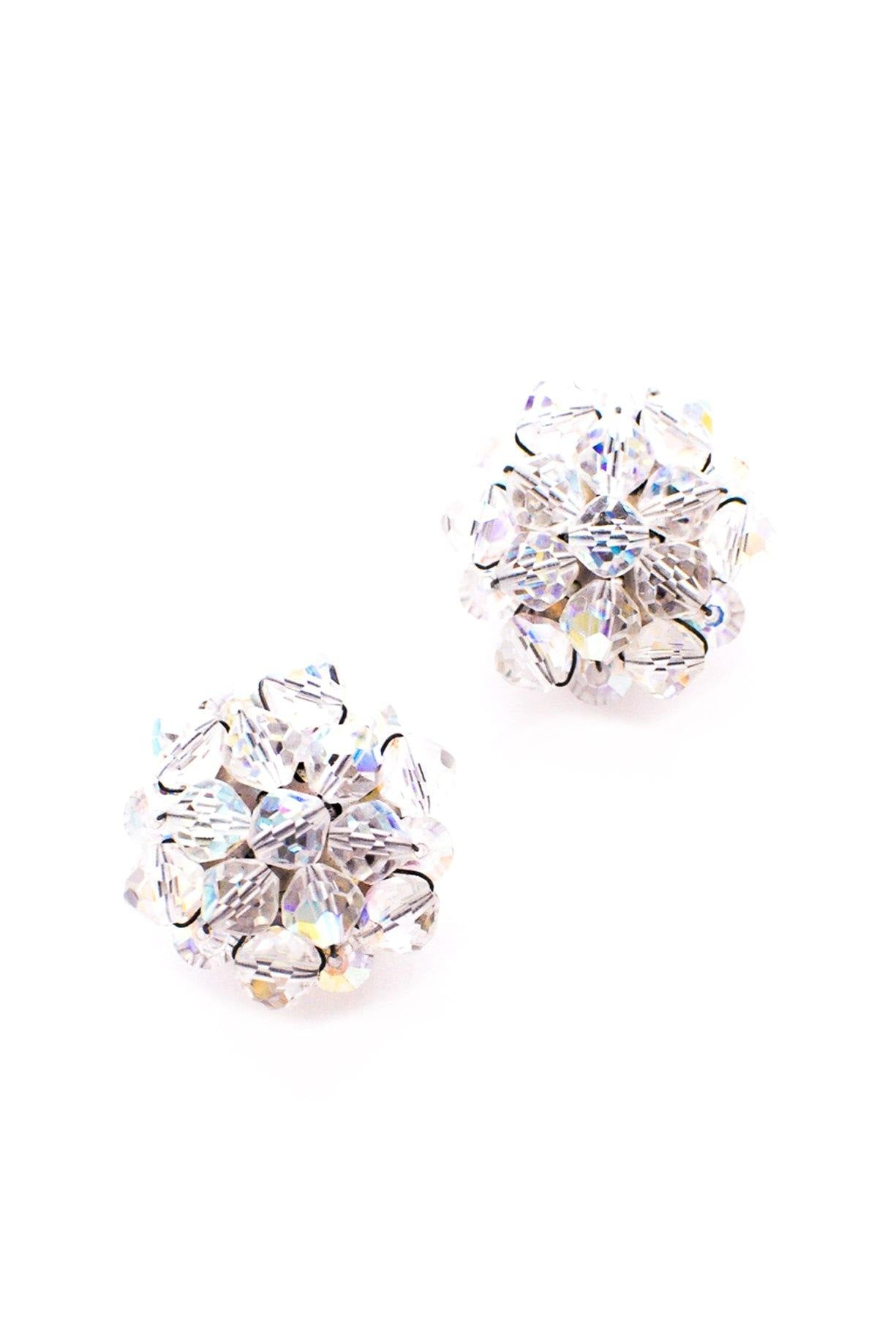 Crystal Statement Clip-on Earrings