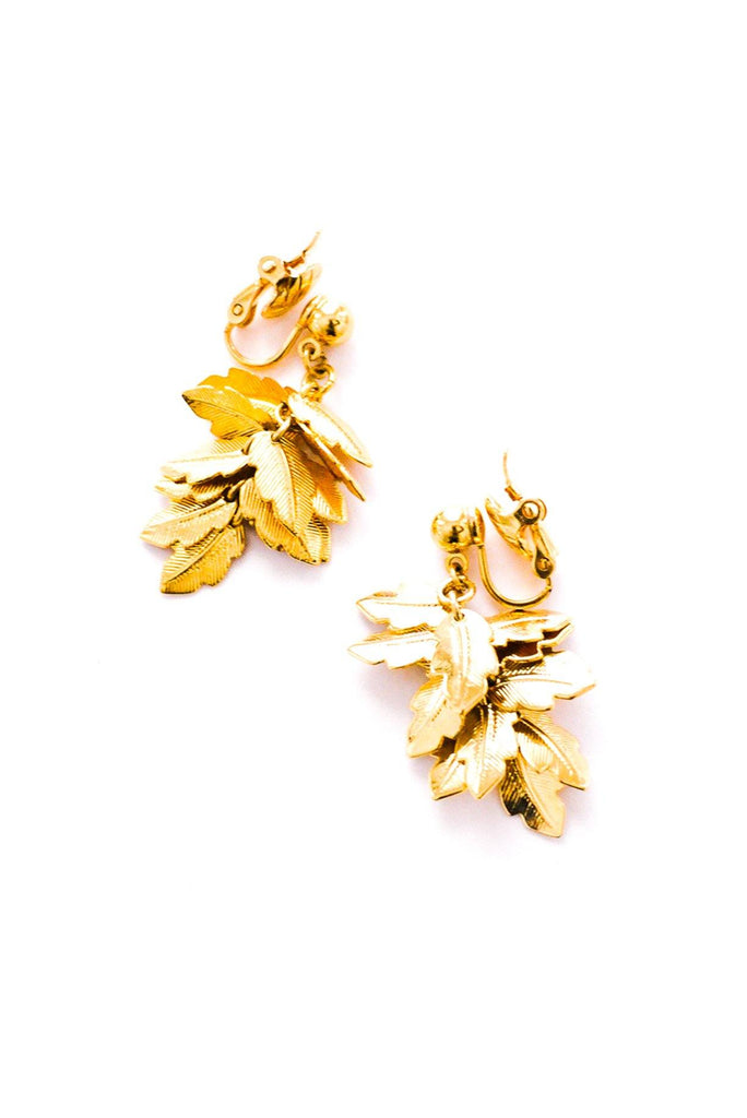 Leaf Drop Clip-On Earrings