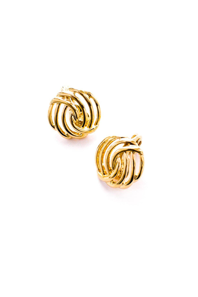 Circle Swirl Clip-On Earrings