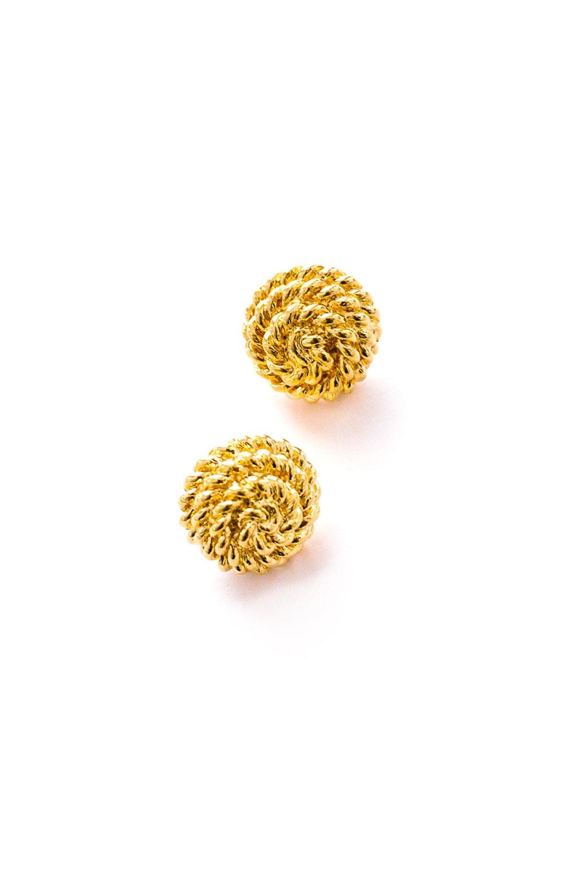 Vintage Monet Gold Rope Wrapped Pierced Earrings from Sweet & Spark