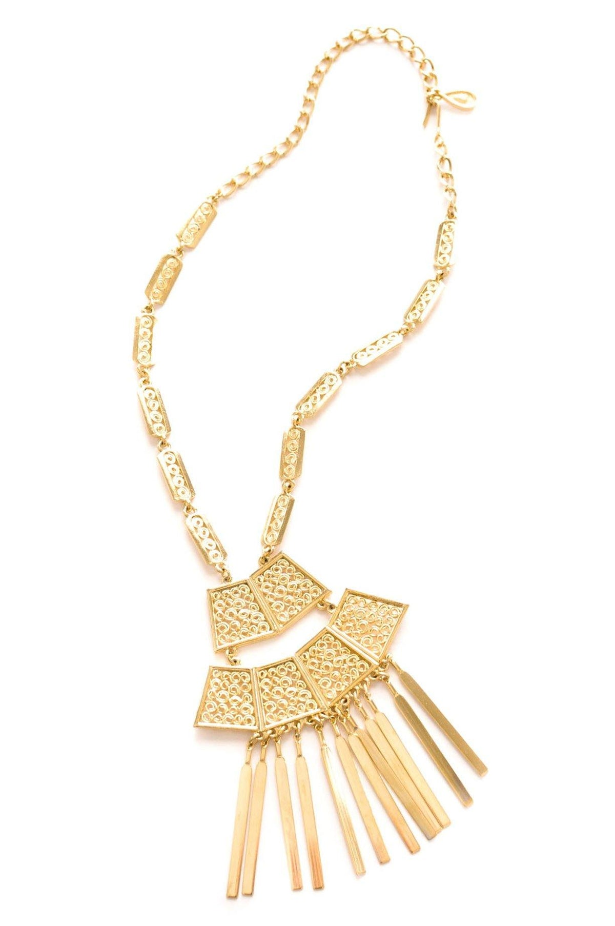 Vintage Gold Statement Tassel Necklace from Sweet & Spark