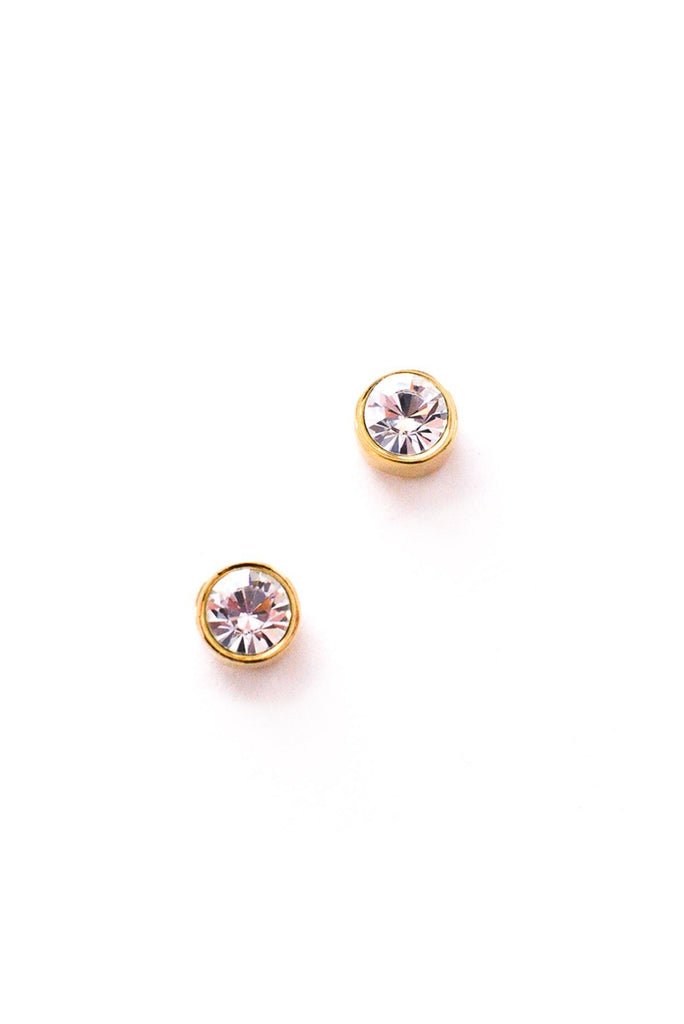 Rhinestone Stud Pierced Earrings