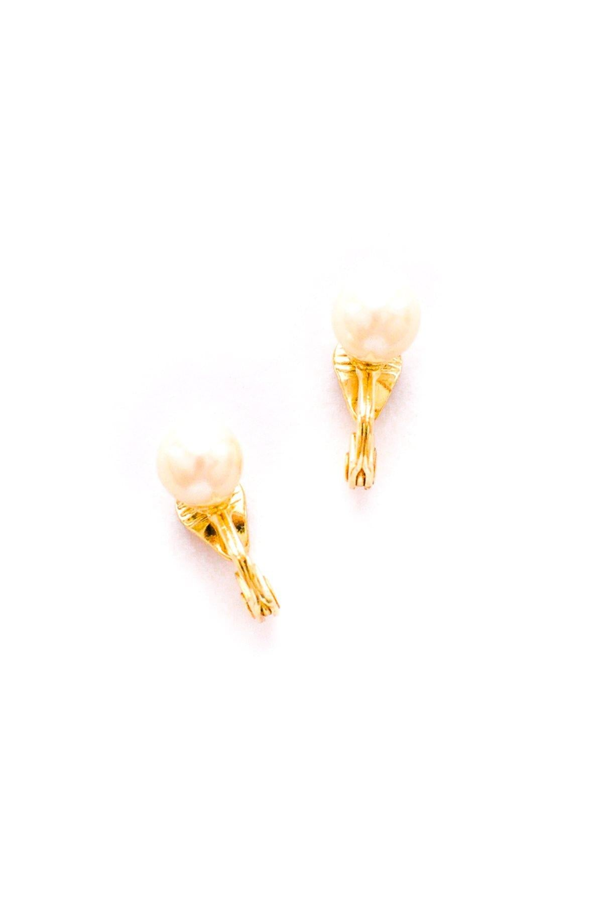 Simple Pearl Clip-On Earrings