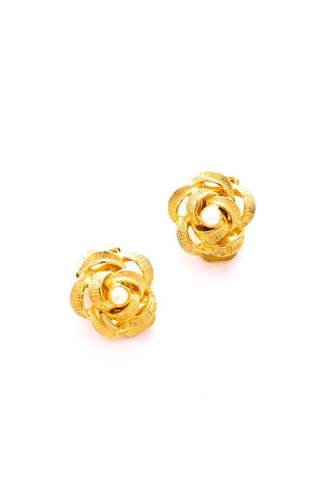 Pearl Knot Clip-On Earrings