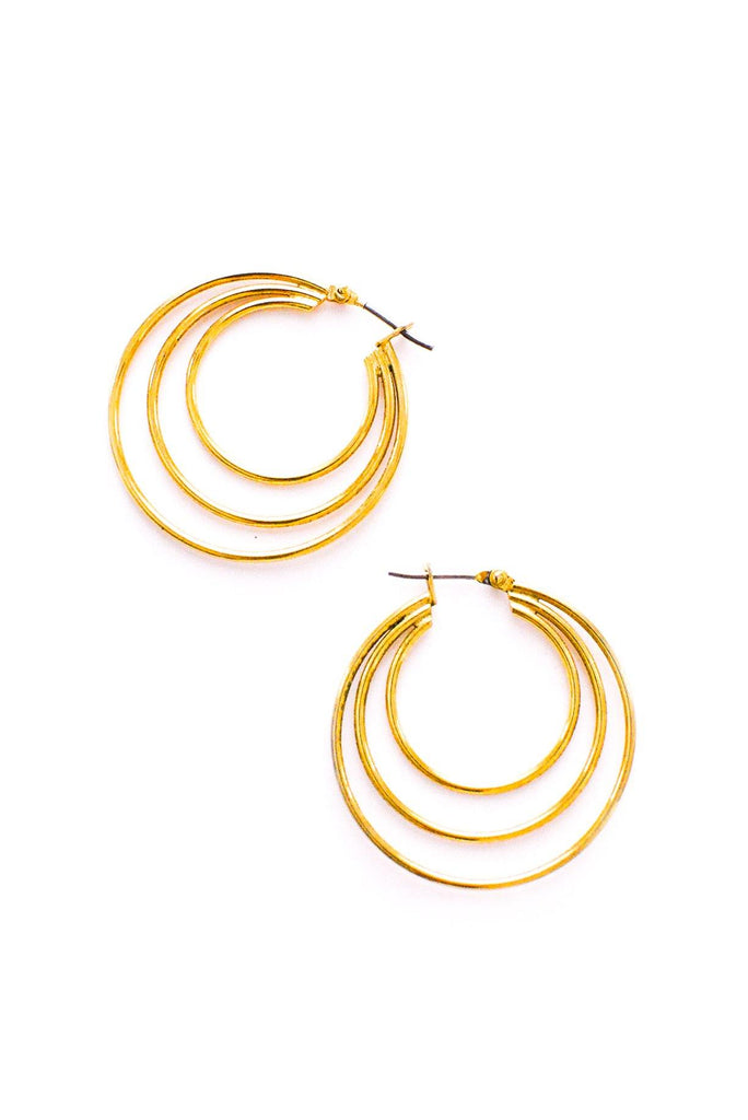Multi Hoop Pierced Earrings