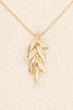70's__Monet__Feather Drop Necklace