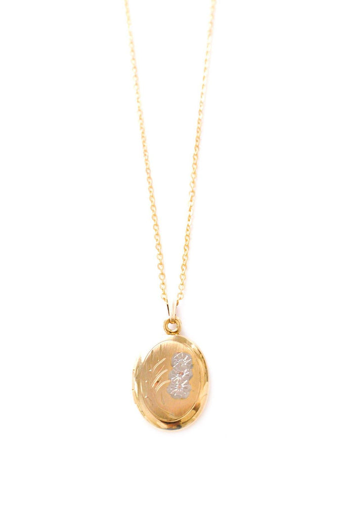 Etched Locket Necklace