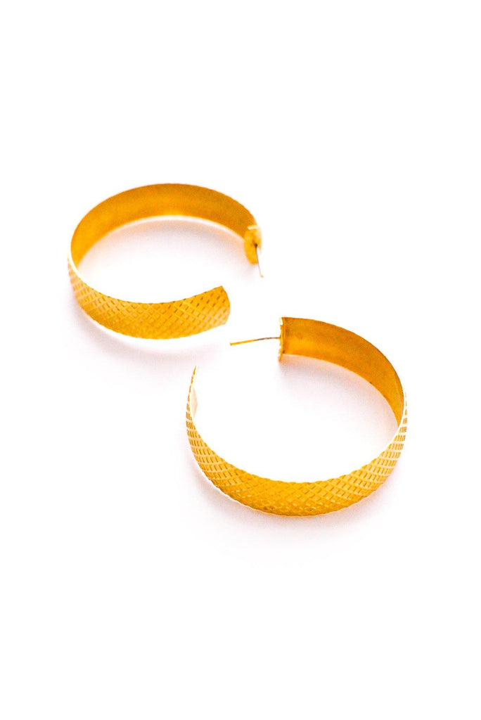 Statement Pierced Hoop Earrings