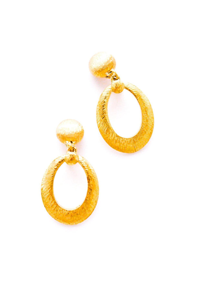 Brushed Hoop Clip-On Earrings