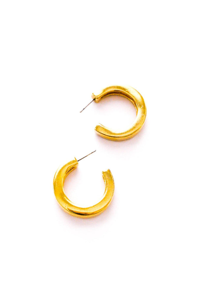 Chunky Hoop Pierced Earrings
