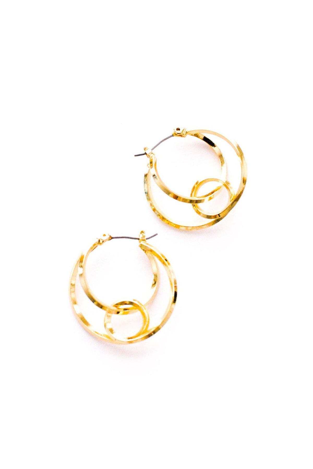 Vintage swirled hoop earrings from Sweet & Spark.