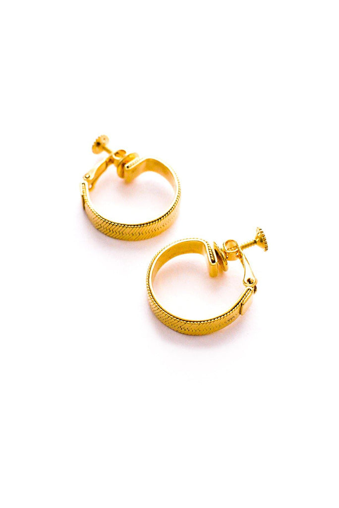 Chain Hoop Clip-On Earrings