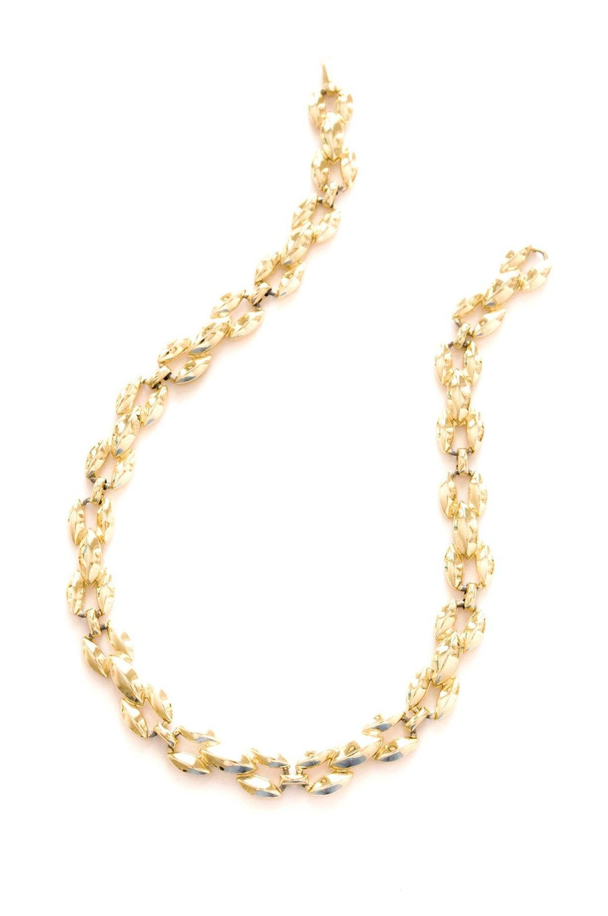 Vintage Gold Oval Chain Necklace from Sweet & Spark