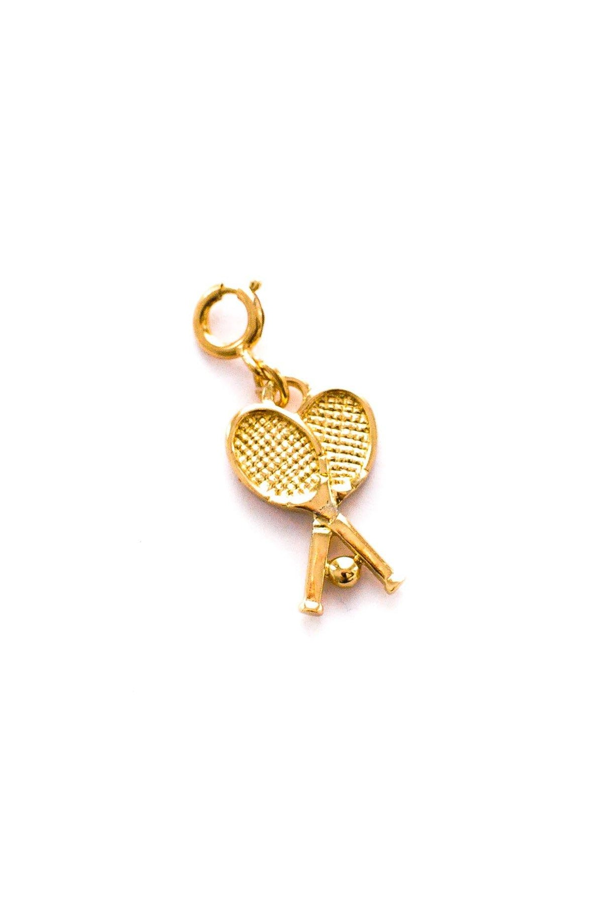 Vintage Monet Gold Tennis Racquet Charm from Sweet & Spark