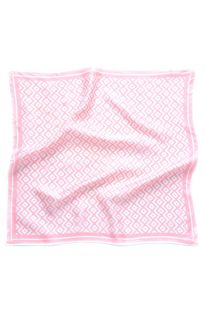 Pink Geo Square Scarf