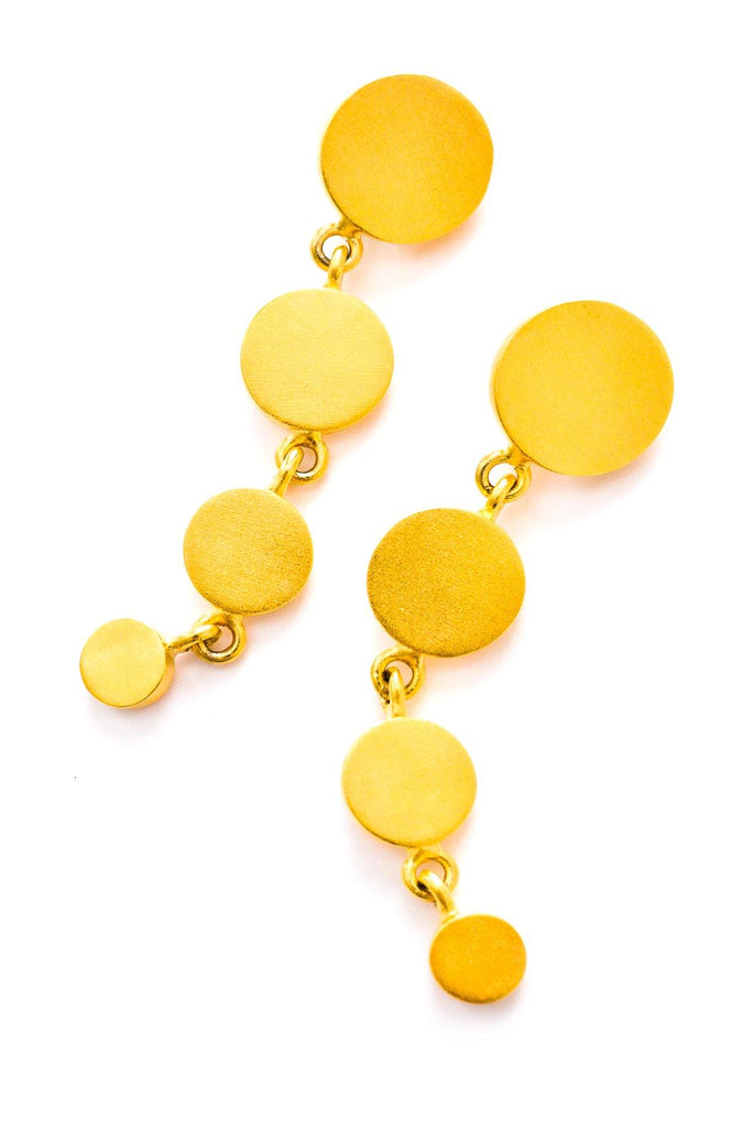 Gold Statement Drop Clip-on Earrings