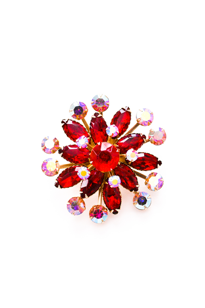 Ruby Red Statement Brooch
