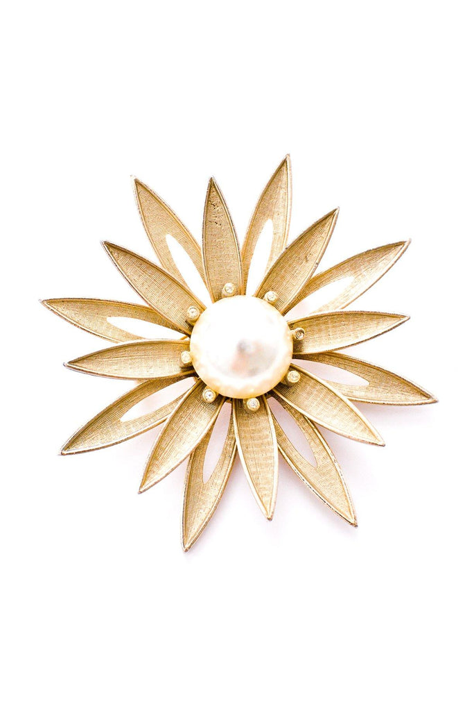 Pearl Statement Floral Brooch
