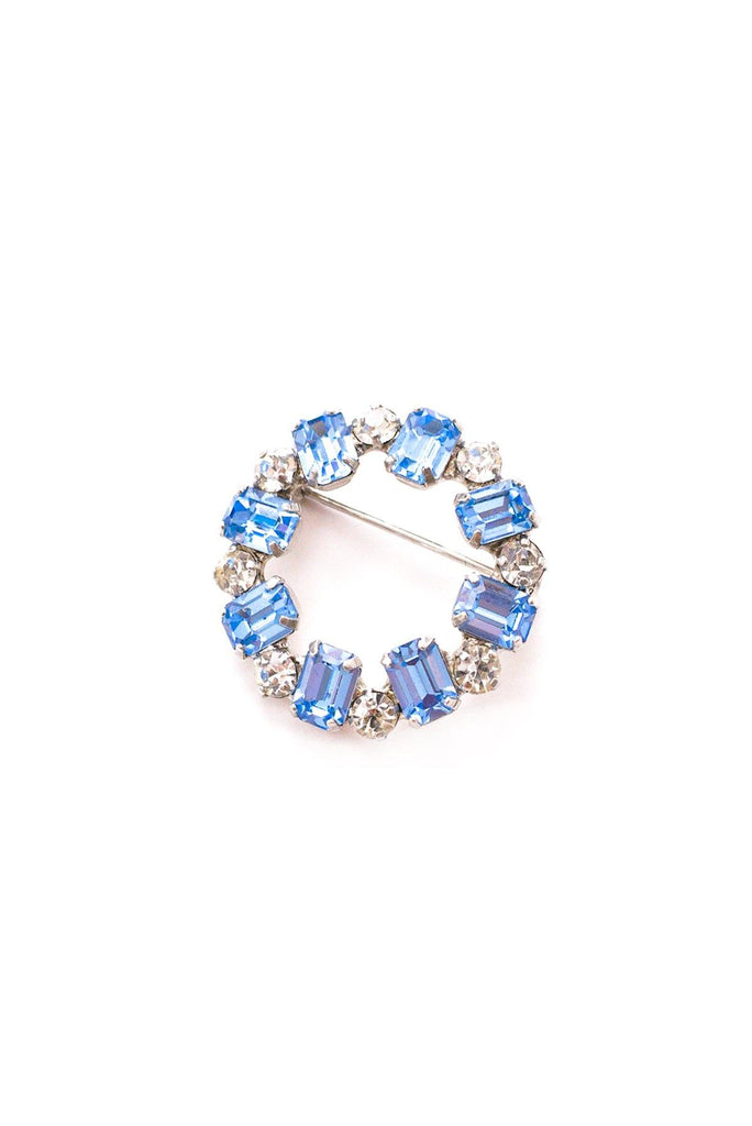 Mini Rhinestone Circle Brooch