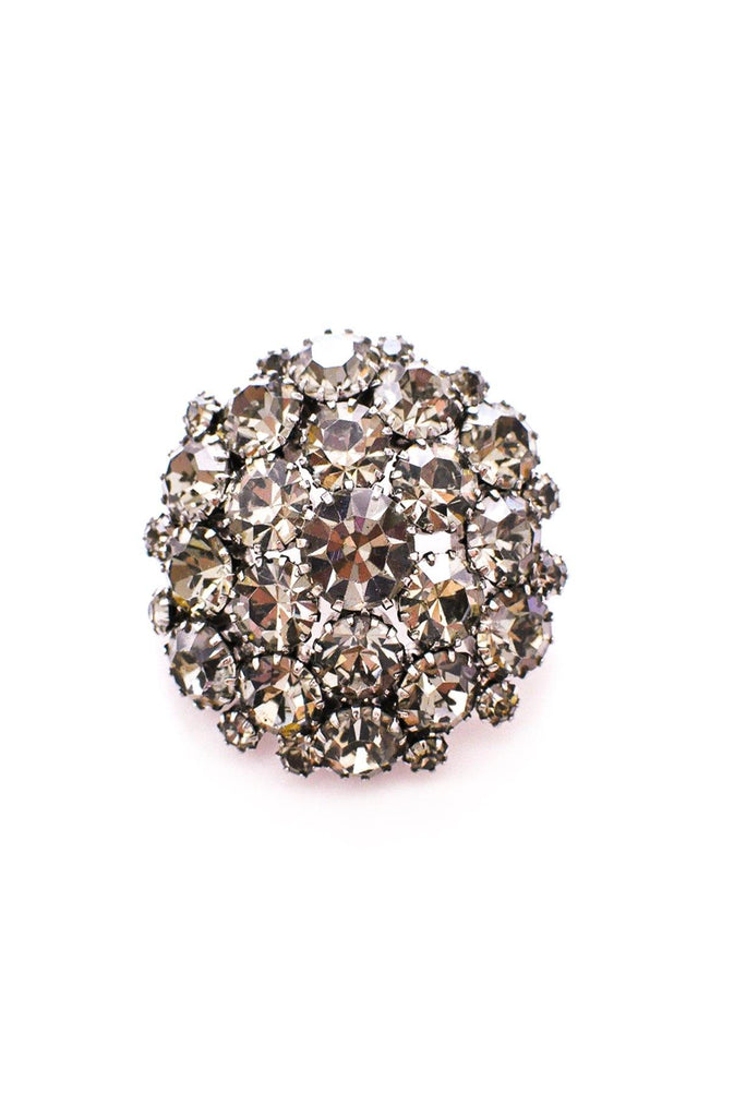 Gray Rhinestone Brooch