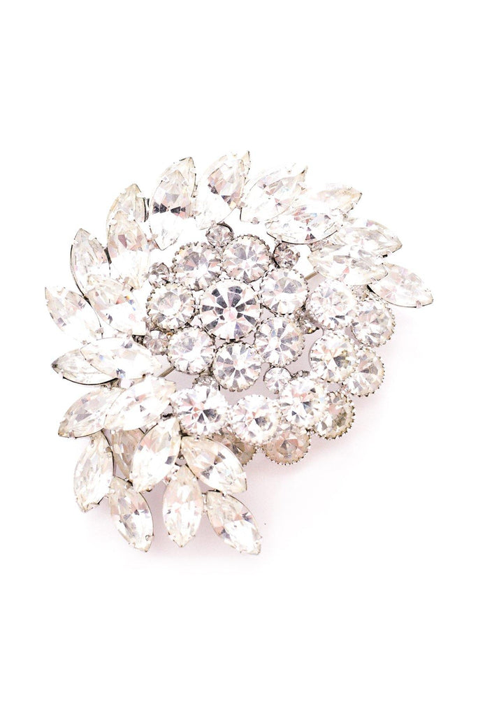 Rhinestone Statement Swirl Brooch