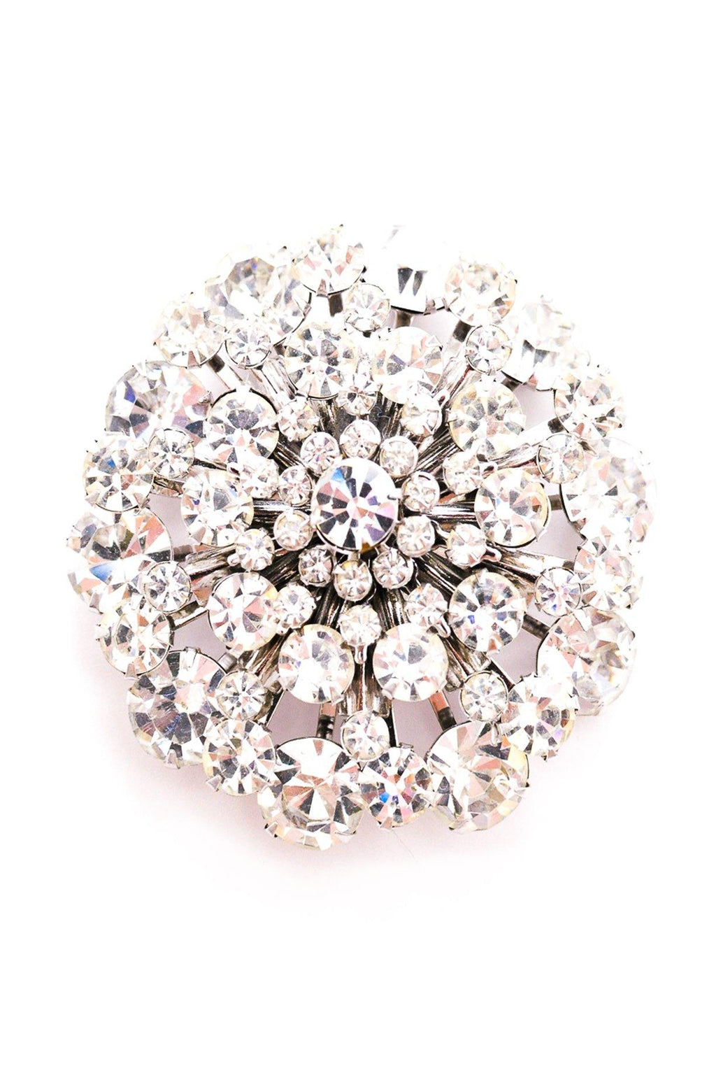 Rhinestone Statement Burst Brooch