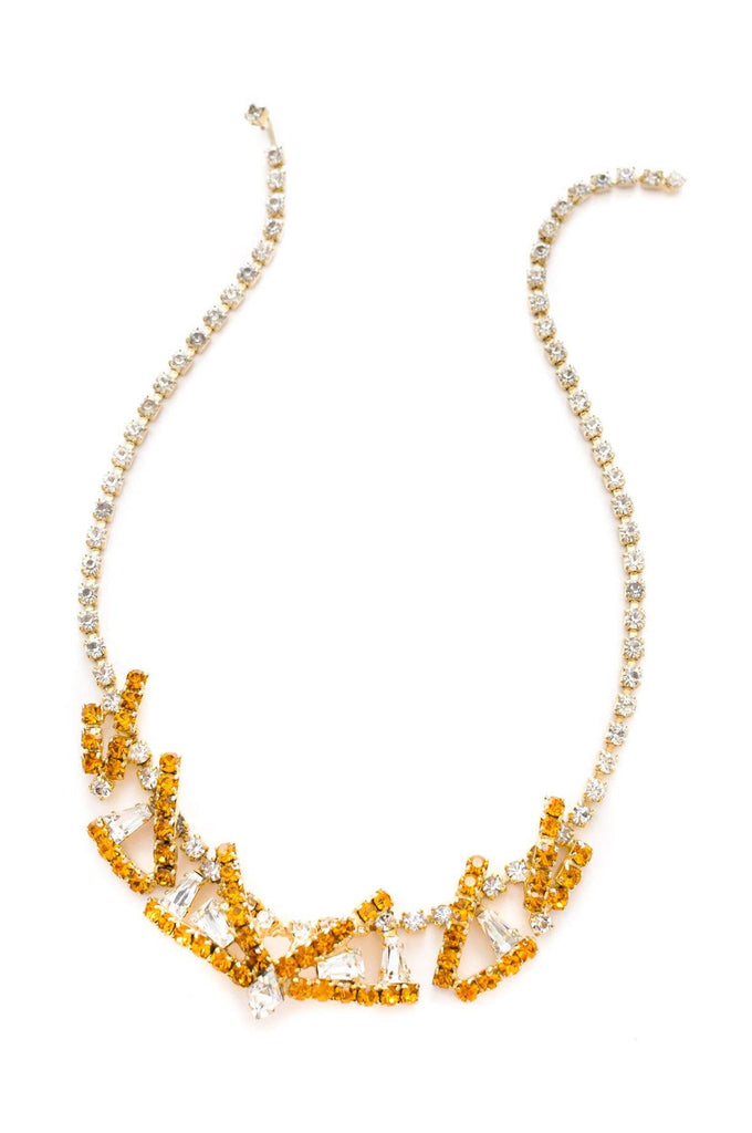 Rhinestone Deco Necklace
