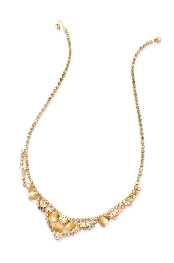 Dainty Gold Rhinestone Necklace