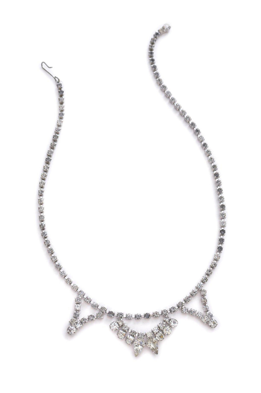 Dainty Rhinestone Statement Necklace