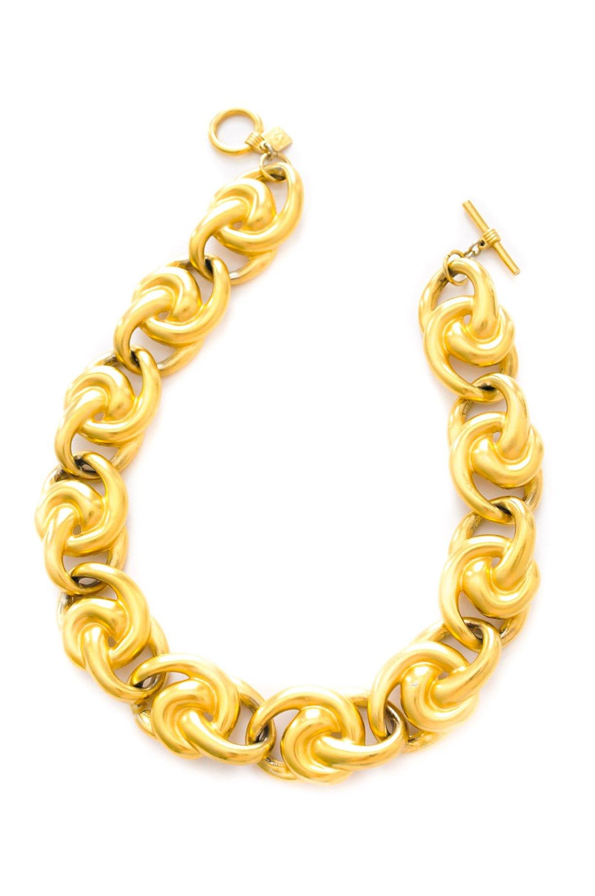 Vintage Anne Klein statement knot necklace from Sweet & Spark.