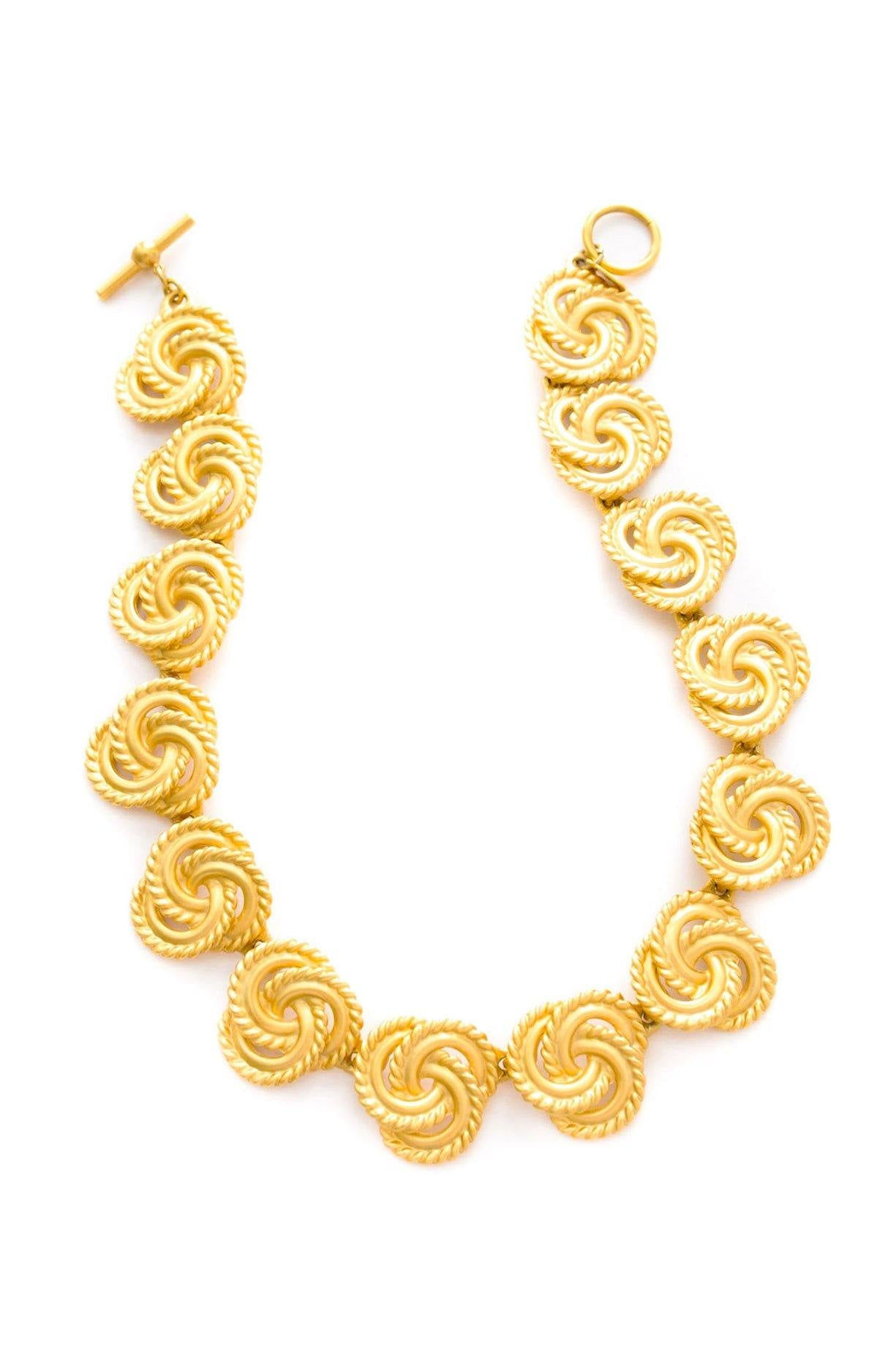 Vintage Anne Klein statement knot necklace from Sweet & Spark