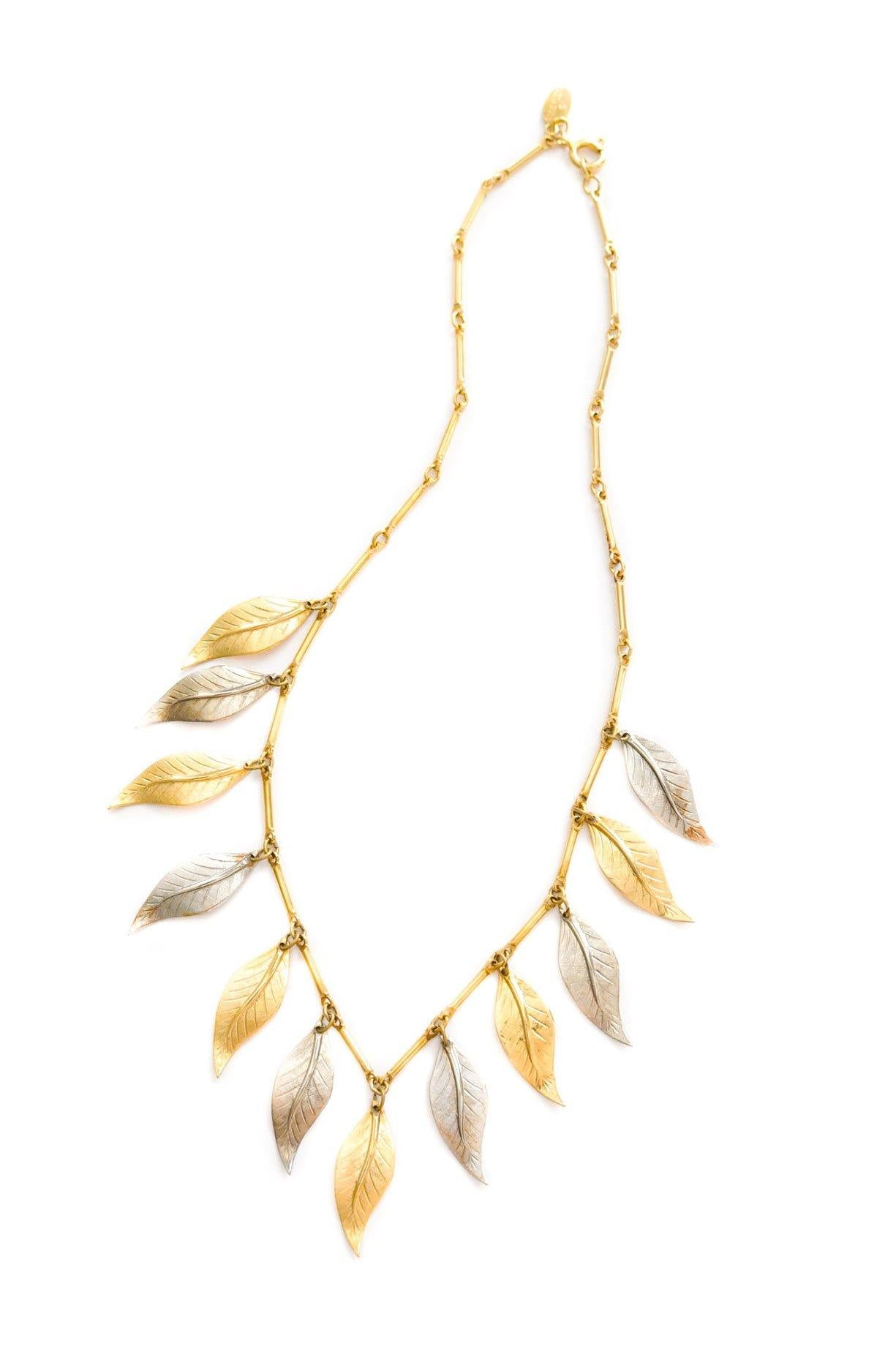 Vintage Anne Klein Leaf Necklace from Sweet & Spark.