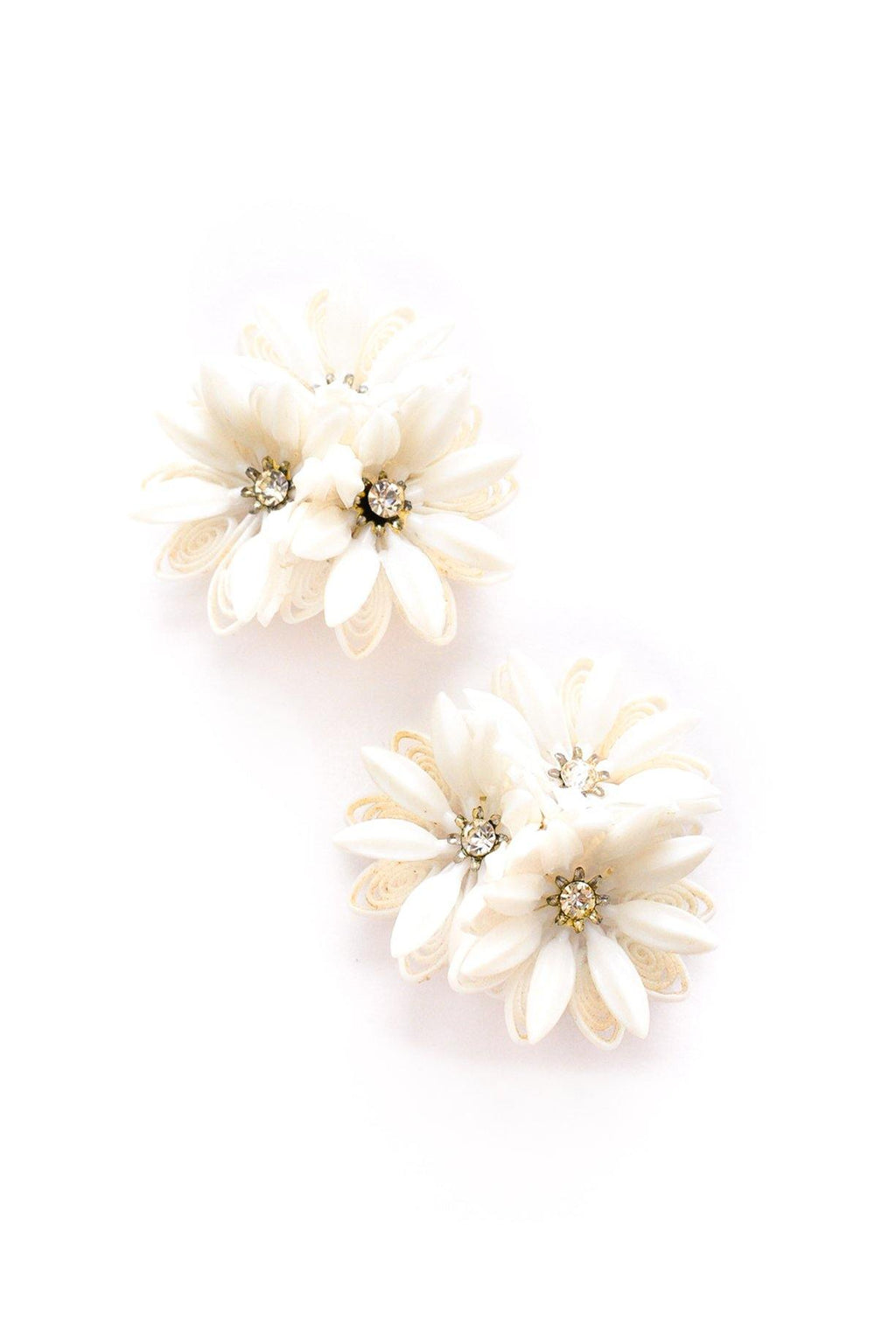 Floral Cluster Statement Clip-on Earrings