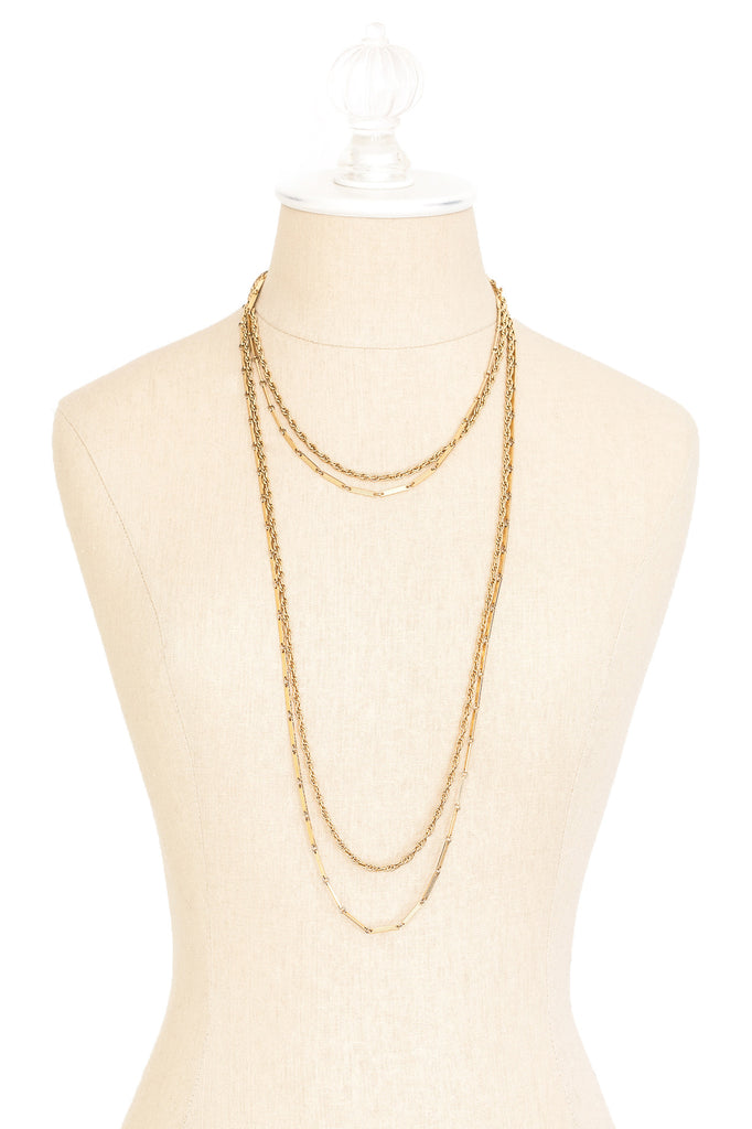 70's__Vintage__Long Layering Chain Necklace