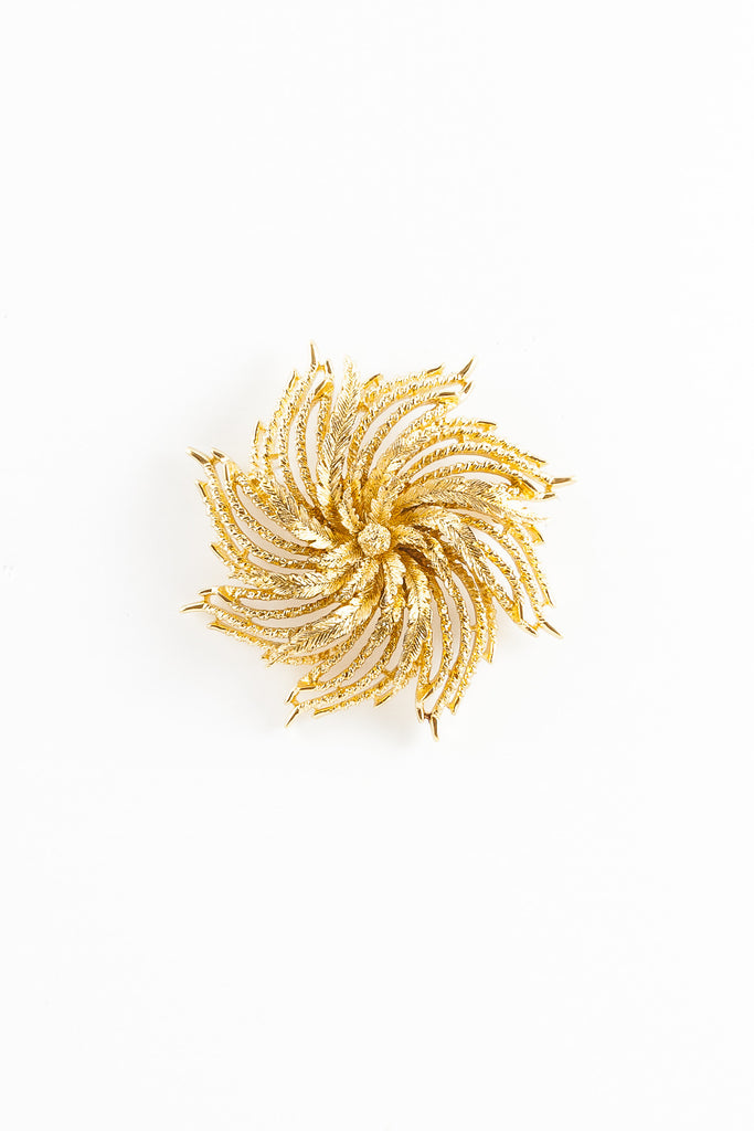 70's__Monet__Flower Swirl Pin