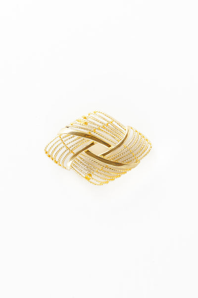 70's__Monet__Open Diamond Swirl Pin