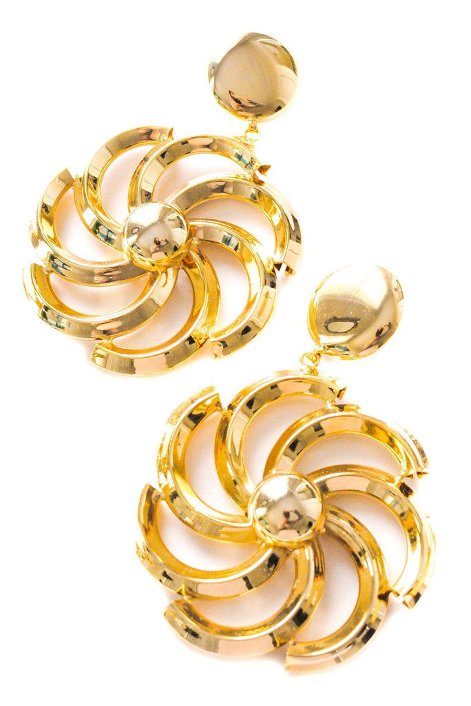 Statement Pinwheel Clip-on Earrings
