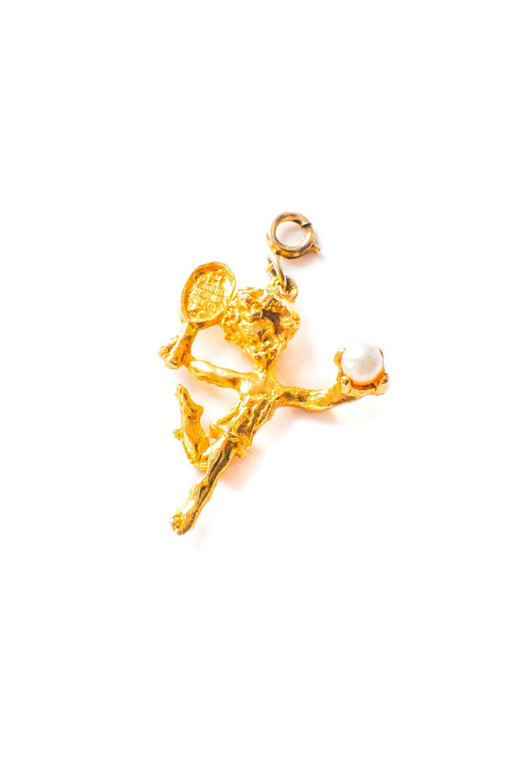 Angel Tennis Player Charm