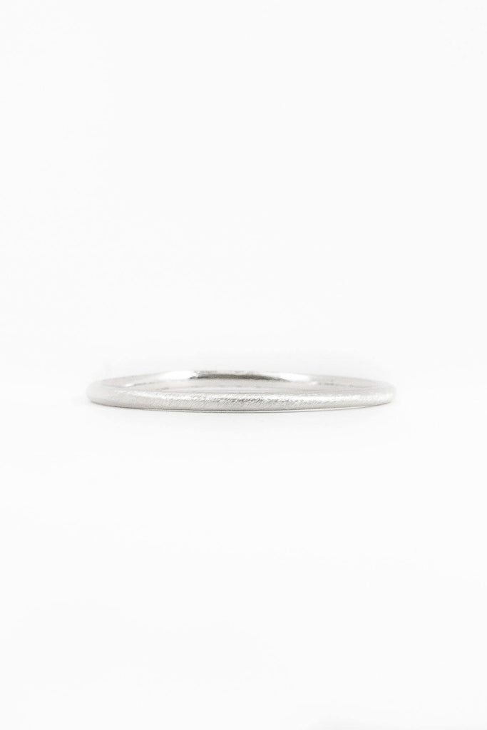 40's__Trifari__Rounded Silver Bangle
