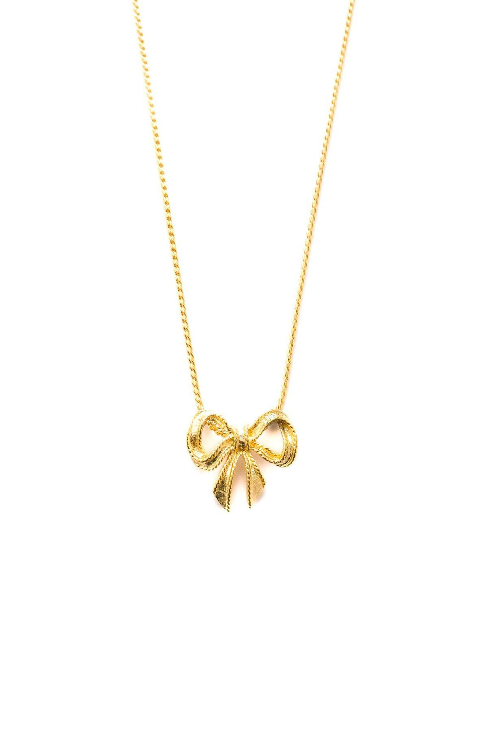 Bow Pendant Necklace