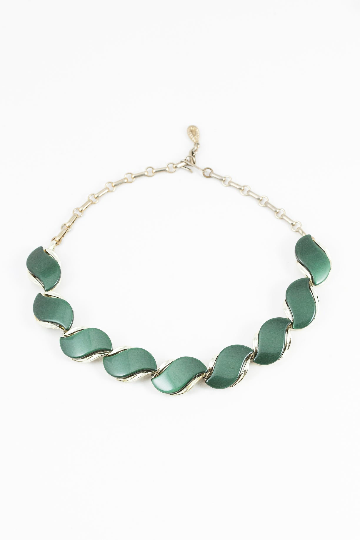 50's__Vintage__Green Lucite Statement Necklace