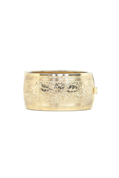 70's__Vintage__Etched Cuff