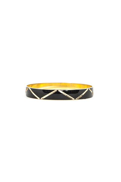 60's__Napier__Black Triangle Bangle