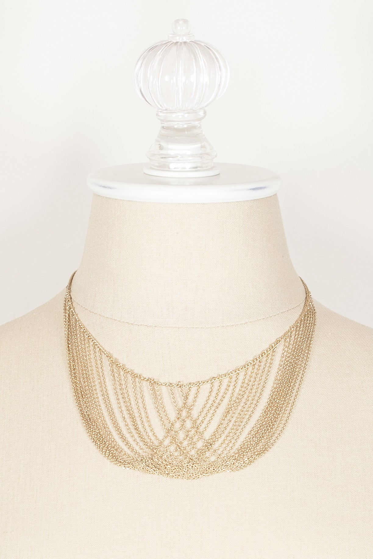 70's__Sarah Coventry__Dainty Multi Strand Necklace