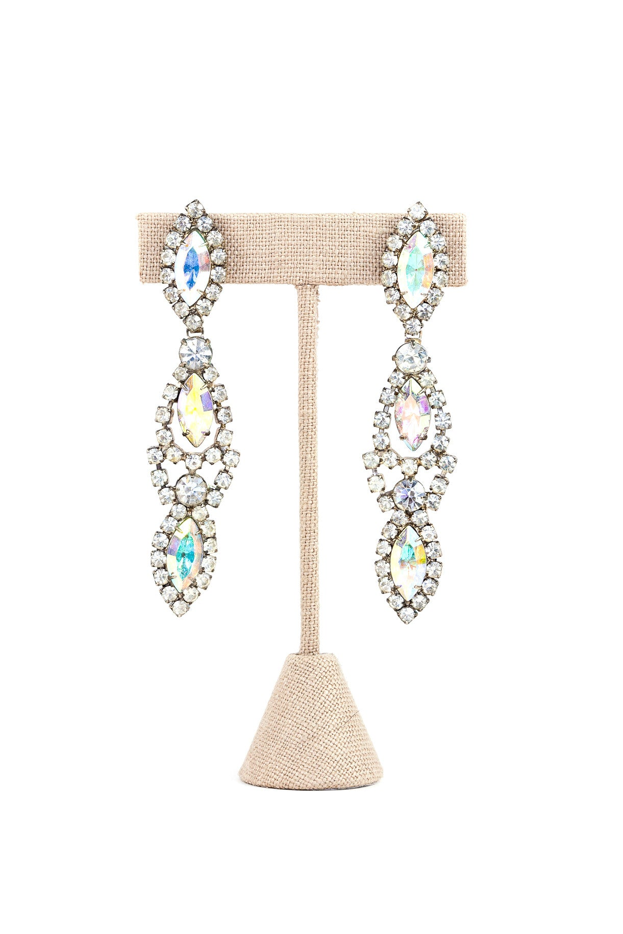 80's__Vintage__Rhinestone Drop Earrings