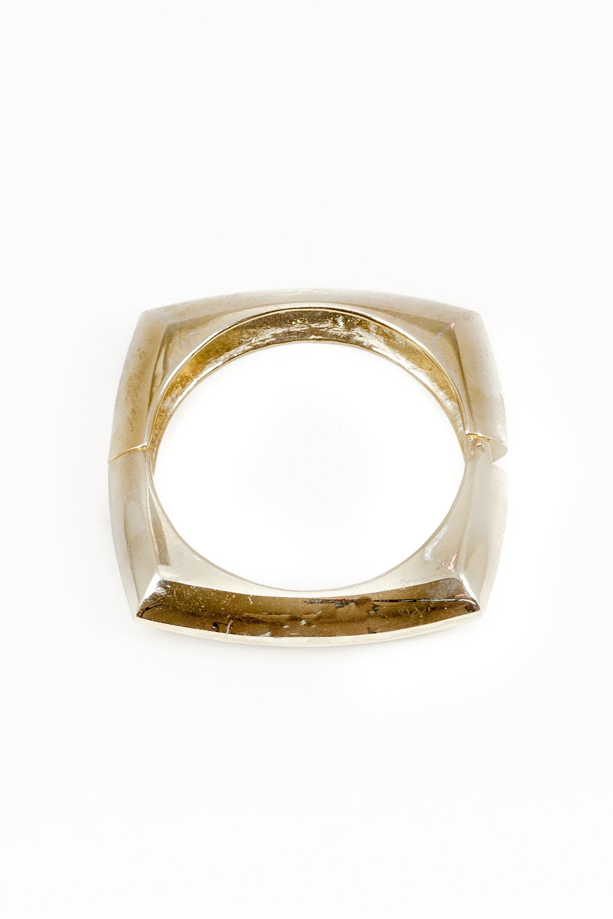 70's__Vintage__Chunky Flattened Square Cuff