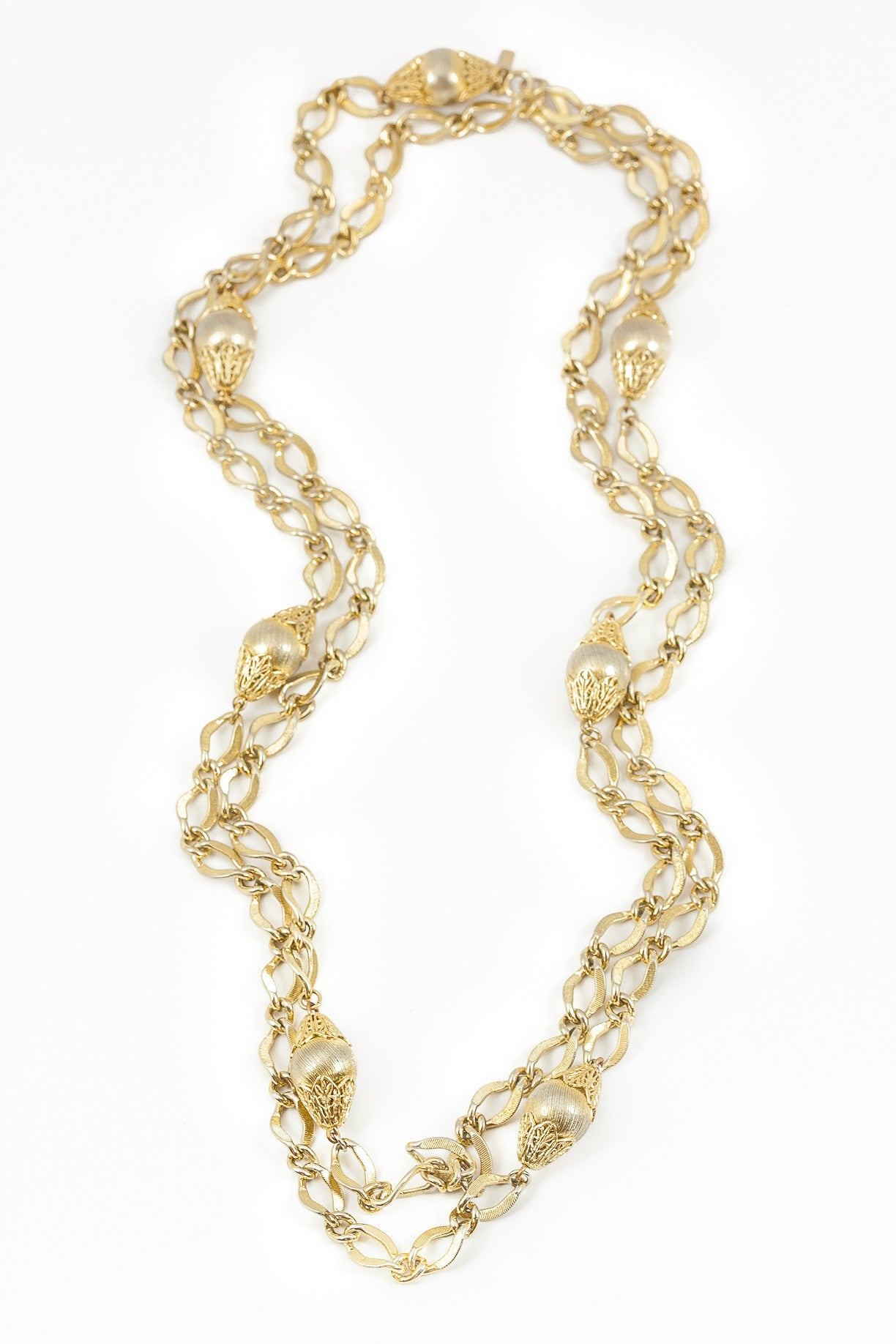 60's__Monet__Extra Long Chunky Chain Necklace