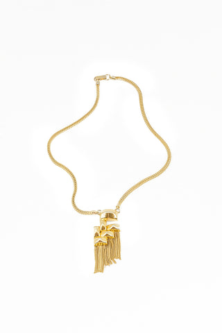 70's__Kara__Short Tassel Pendant Necklace