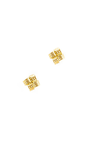 80's__Avon__Classic Square Stud Earrings